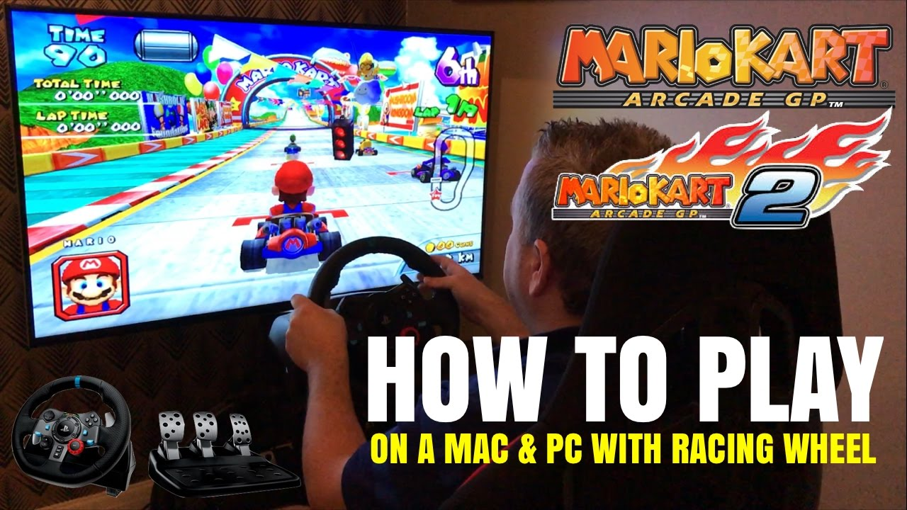 Let's Race - HOW TO PLAY - Mario Kart Arcade GP 2 on PC & Mac Logitech G29  Racing Wheel - Triforce by Griffomedia