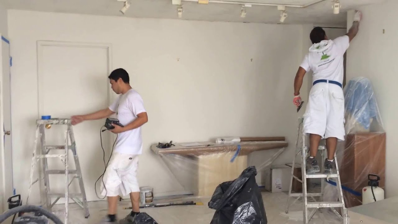 Popcorn Ceiling Removal Skim Coat Plaster Contractor Manhattan Painting Company Nyc Paint Po