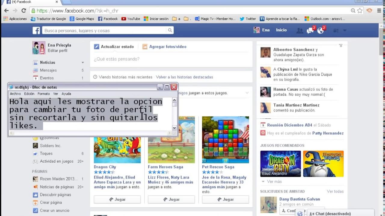 Como cambiar foto de perfil de facebook sin quitar likes y sin recortar aplica 2016 youtube - Como poner muchas fotos en una pared ...