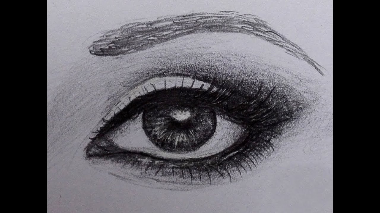 Eye With Make Up Drawing Youtube