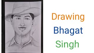 How to draw Sardar Bhagat Singh with pencil ||time lapse video||