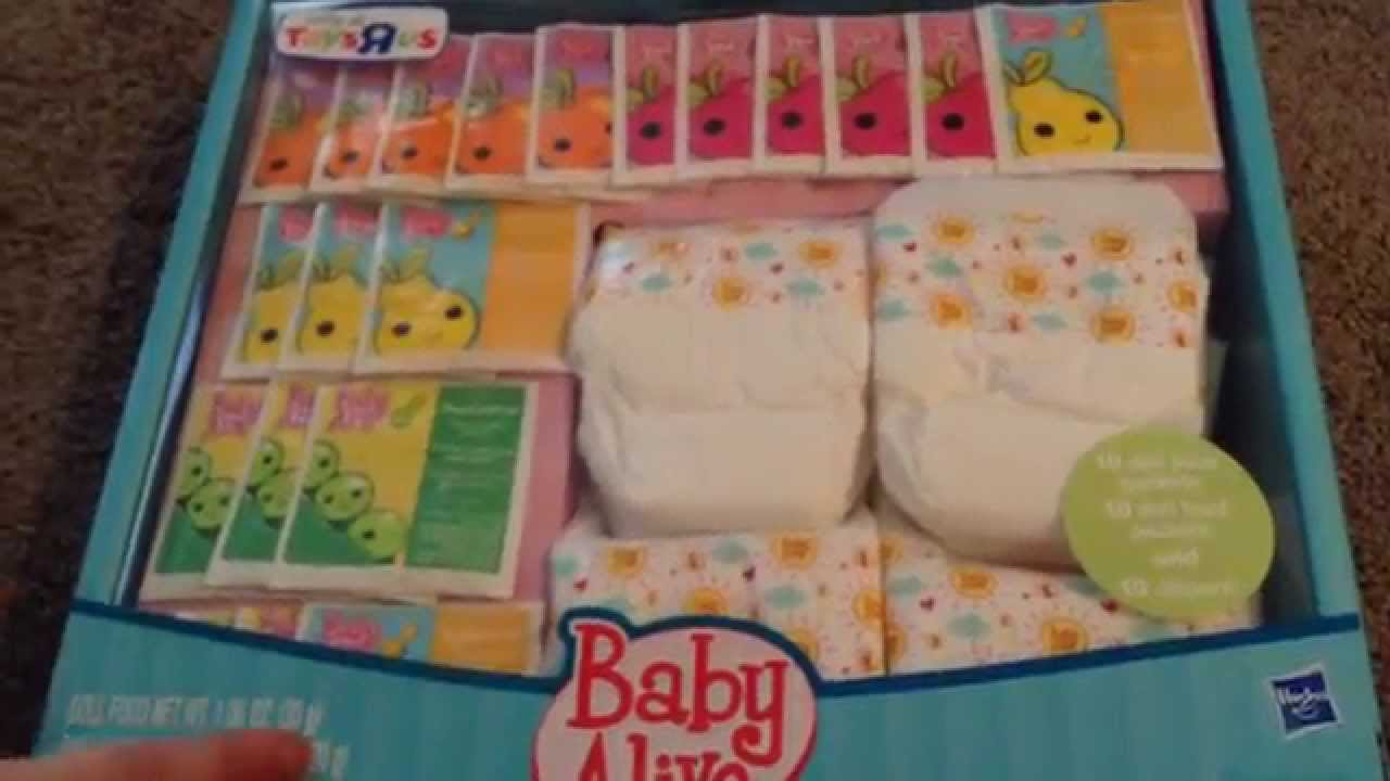 Baby Alive Super Refill Pack Unboxing Youtube