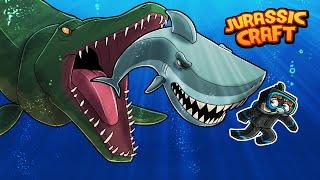 Jurassic Craft - WATER DINOSAUR ESCAPES! (Minecraft Dinosaurs)