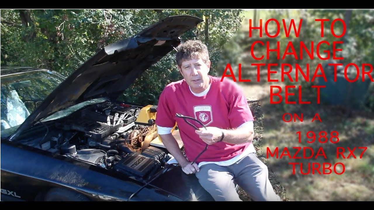 Changing The Alternator Belt On A 1988 Mazda Rx7 Turbo Youtube Timing