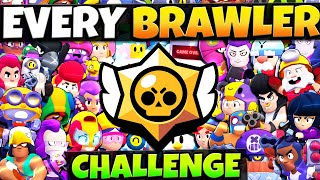 Playing All 37 BRAWLERS in ONE VIDEO Challenge! Can We Win EVERY Game?!