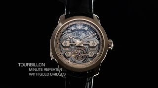 Tourbillon Minute Repeater with Gold Bridges