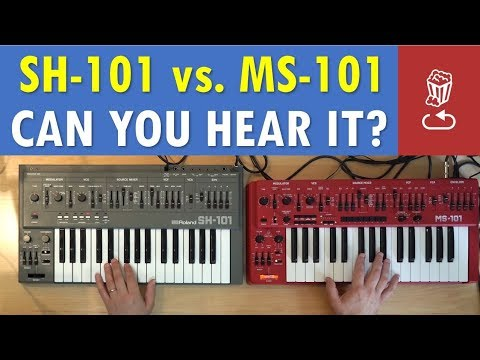 Roland SH-101 Vs Behringer MS-101: Can You Hear The Difference?