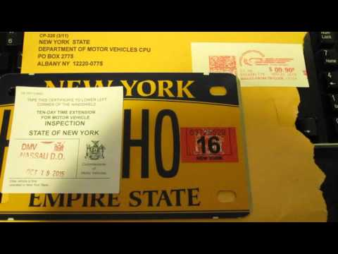 New York State Vanity Plates