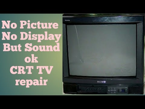 No picture No Display But sound ok  SAINSUI CRT TV repair in Hindi