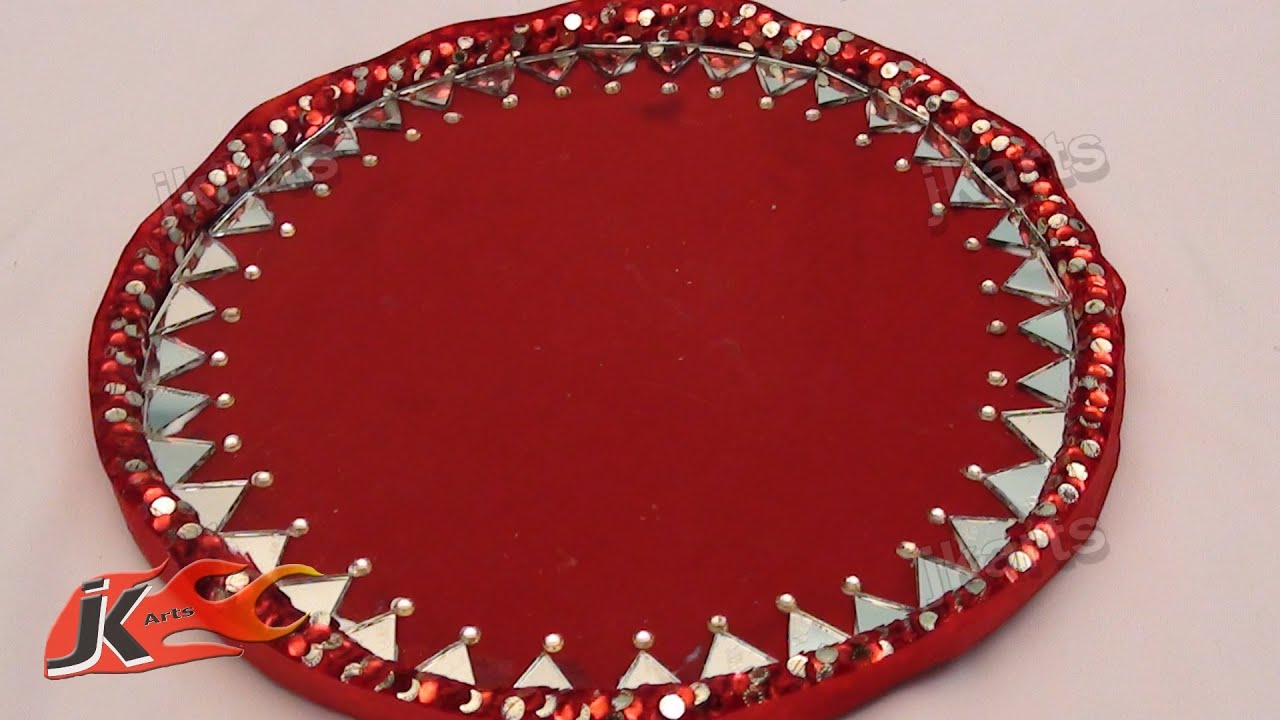 Diy how to make decorative round wedding tray jk arts 108 youtube junglespirit Choice Image