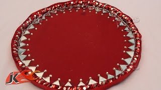 Diy How To Make Decorative Round Wedding Tray - Jk Arts 108