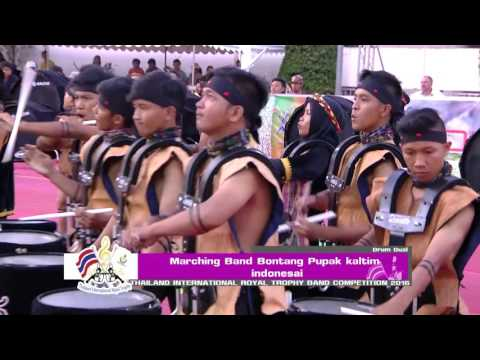 Marching Band Bontang Pupuk Kaltim ประเภท Drum Dual