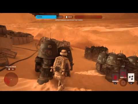 Master Trophy & Platinum Trophy: Battle Mission on Tatooine (Masters Difficulty)