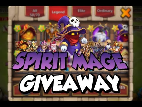 Castle Clash: SPIRIT MAGE GIVEAWAY W/ Malchik   Evolved Heroes & 80K Might!   IOS