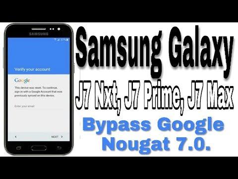 Samsung j7 prime unlock frp   Bypass FRP Galaxy J7 without