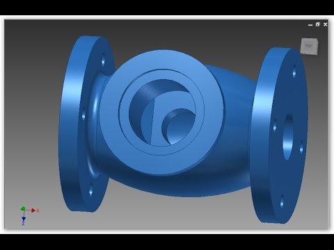 VALVE - Autodesk Inventor - Revolve - Extrude - Hole - 2D into 3D Modeling - Exercise