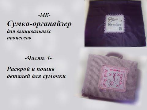 МК - Сумка-органайзер. Часть 4. Раскрой и пошив деталей сумочки скачать