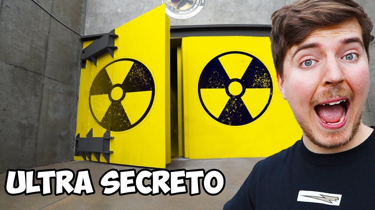 Pasé 24 Horas en un Bunker Apocalíptico |  MrBeast en español