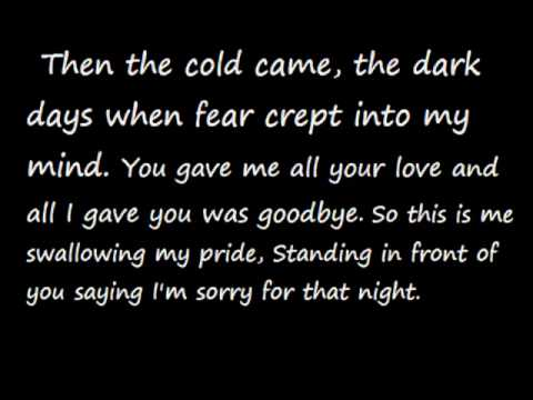 Taylor Swift - Back to December Lyrics