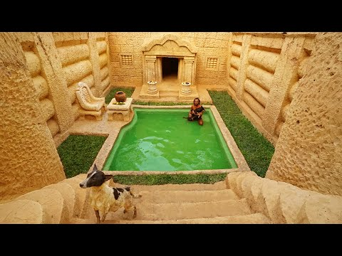 Lovely Dog Help A Man To Build The Most Greatest Survival Underground House And Swimming Pool