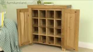 Andorra Solid Oak Large CD Storage From Oak Furniture Land