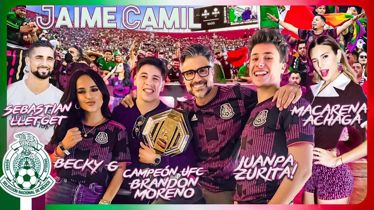 México - Nigeria con la familia, Macarena y Juanpa Zurita en el Coliseo de Los Angeles | Jaime Camil