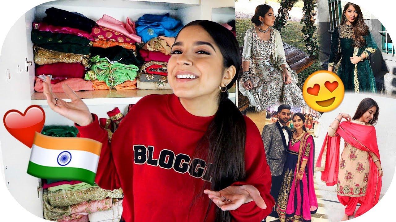 meine indische kleider sammlung 😍‼️ + online shopping erfahrung 😓 | sanny  kaur