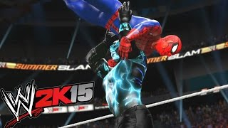 WWE 2K15 - Spiderman vs Electro - TABLES MATCH