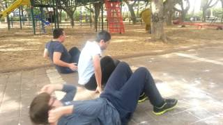 Школьники на уроке физкультуры в Израиле
