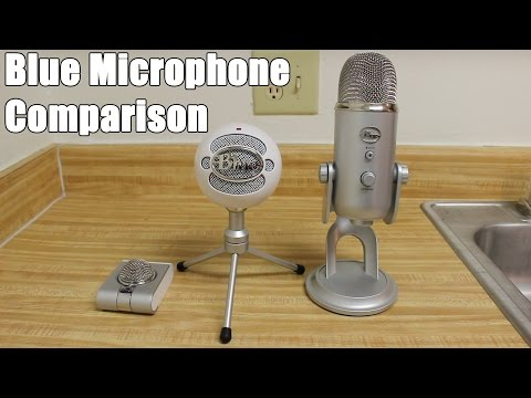 Blue Microphone Comparison - Snowflake, Snowball iCE & Yeti