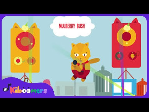 Here We Go Round the Mulberry Bush | Kids Songs | Kindergarten | Baby | Rhymes | The Kiboomers