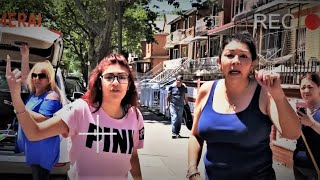 NYPD Schools Out-of-Control Mom & Teen on Blocking Parking Spot
