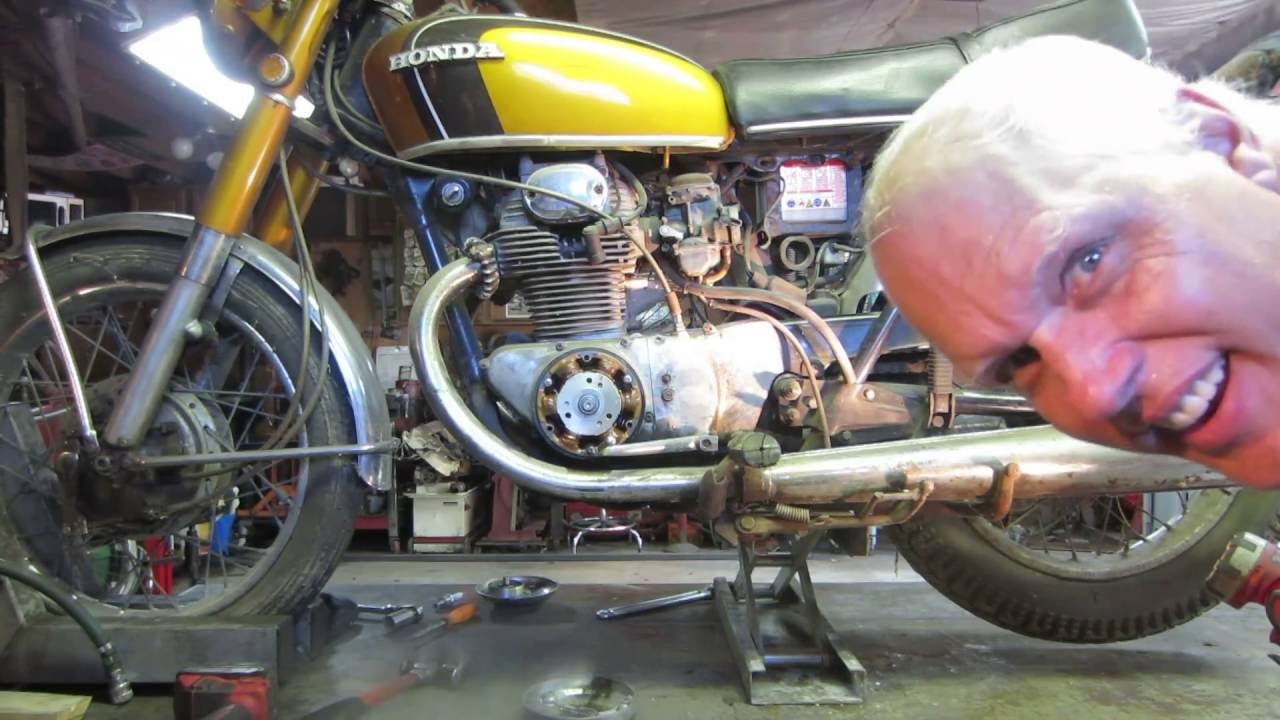 Barn Find 1971 Honda Cb 350 Motorcycle