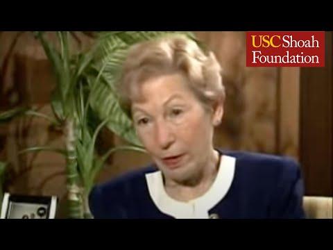 "Holocaust Survivor Erna Anolik Testimony Clip ""Camps"""