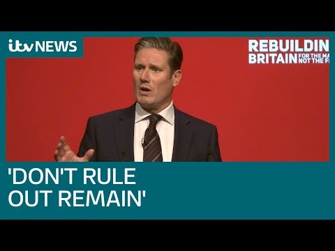 Labour 'not ruling out remain' as it seeks referendum on Government's Brexit plan | ITV News