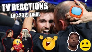 just some commentators reactions from esc 2019 final (a few 12s, winning moment and 0 points)