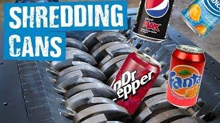 Shredding Soda Cans - Shredding Stuff