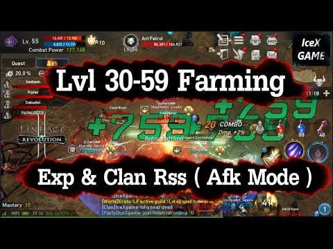 Lineage 2 Revolution lvl 30-59 Farming Exp & Clan Donate item ( US/EU )