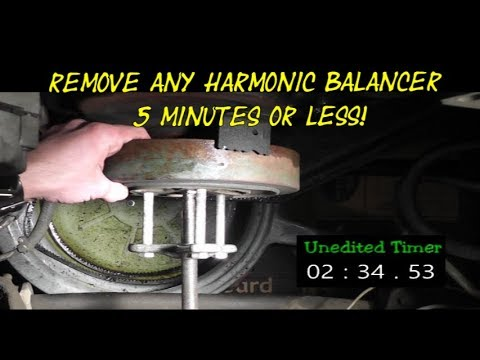 "How To Remove Any Harmonic Balancer ""IN 5 MINUTES OR LESS"" Chevy Truck 350/5.7L"