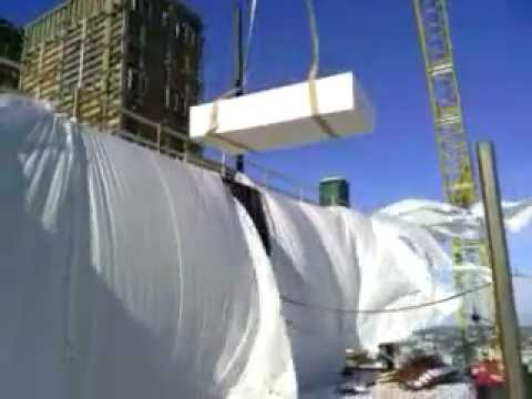 Proper Crane Materials Handling - Windy Day - Sheetrock