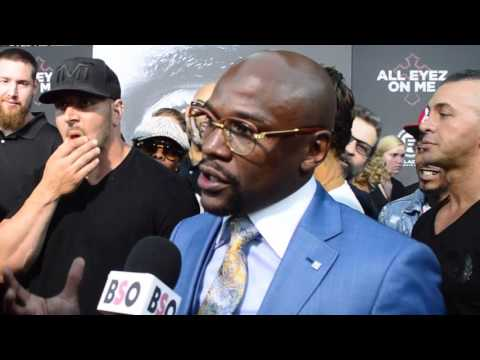 Download Youtube: Floyd Mayweather First Interview About Conor McGregor Fight During All Eyez on Me Red Carpet