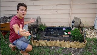 The MINI Backyard TURTLE POND!!!