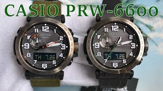 Обзор моделей Casio PRW-6600 Protrek