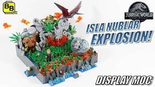 JURASSIC WORLD ISLA NUBLAR EXPLOSION! LEGO DISPLAY MOC