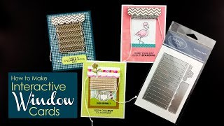 Interactive Cards - Blinds and Valance Dies - Technique Video - Technique Tuesday