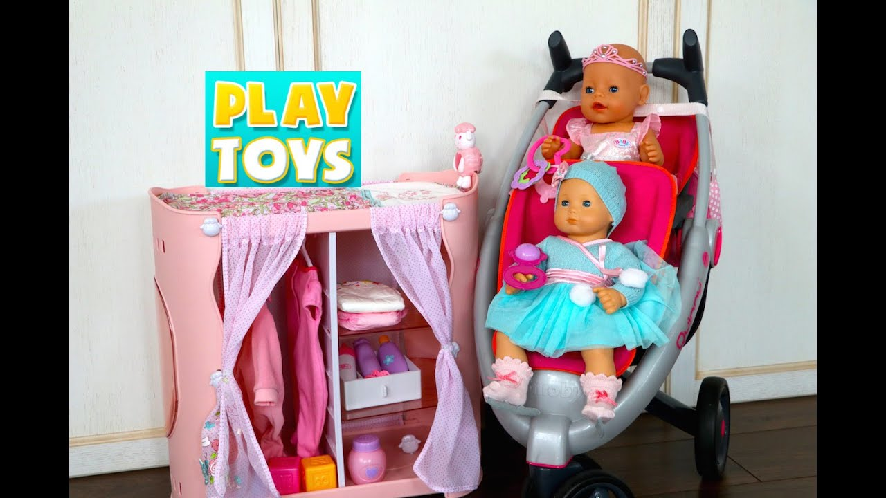 Toys For Twins : Playing with cute baby doll playset for girls and twin