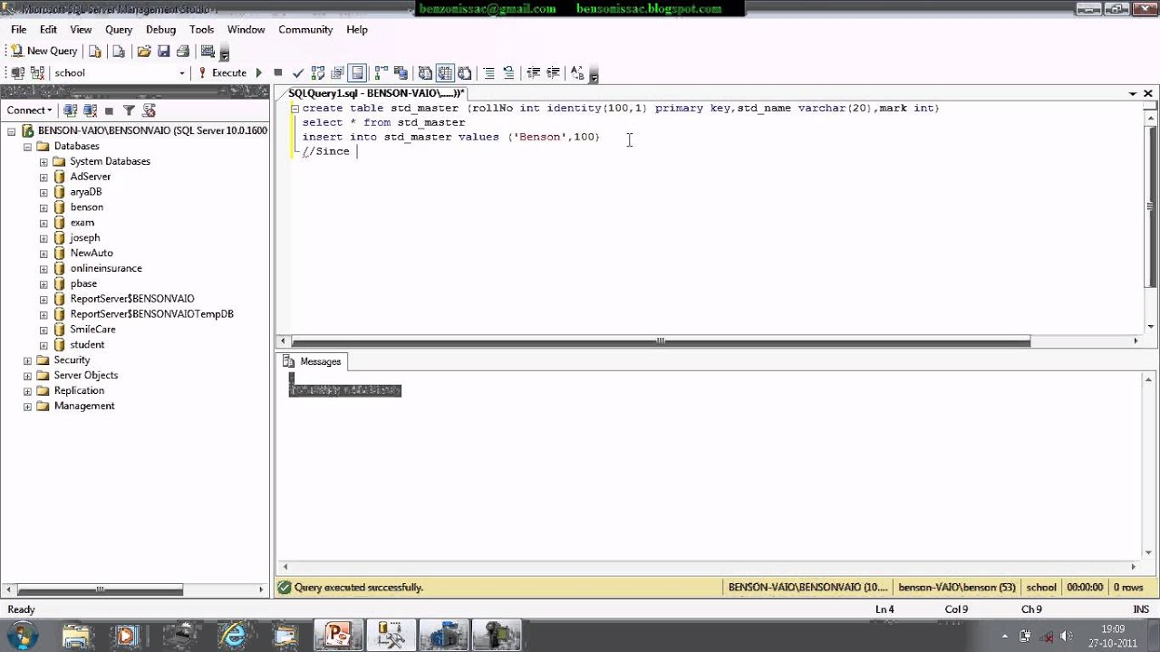 Sql create table primary key identity cabinets matttroy - Sql create table auto increment ...