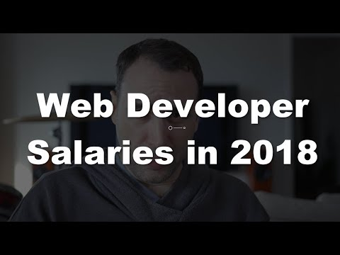 Web Developer Salaries in 2018