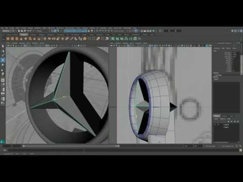 Autodesk maya 2016 mercedes benz metris 2016 modeling timelapse part 1-7