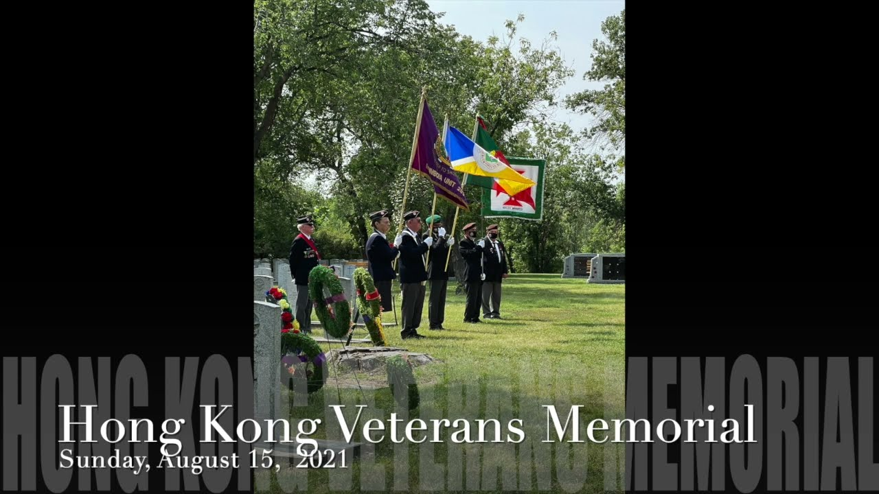 Today We Honour Winnipeg Hong Kong Veterans